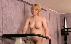 teddy loves to work out naked