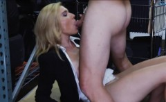 Hot blonde milf screwed in the backroom to earn extra money