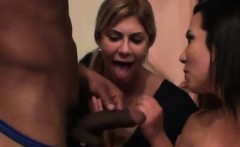 sexy lady in black dress sucking big dick