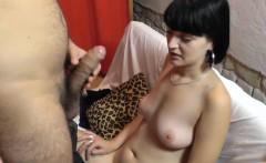 Charming 19yo gets facial after lapdance and handjob