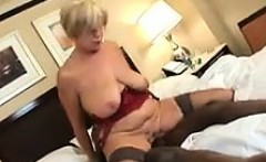 Granny Enjoying His Large Black Cock