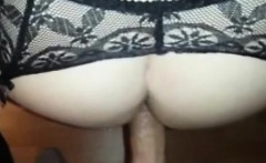 Cougar Pussy Squirts During Anal Sex