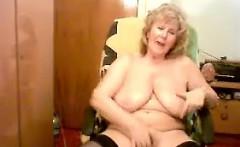 Chubby And Busty Grandma Masturbating