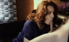 Amateur Redhead MILF Blowjob and swallow