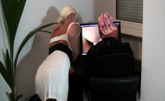 sexy big boobs blonde milf gives her man a blowjob