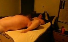 Horny BBW And Her Lover Getting It On