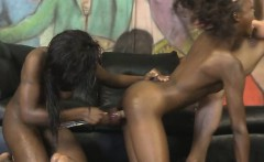 Black Hood Rats Getting Roughed Up In Threesome Together