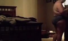 Chubby housewife Amy nude on spy camera