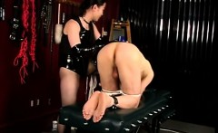 Slave stud gets spanked and dick bound - Meet her on DOM-MAT