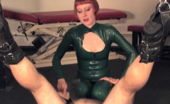 Mistress tramples pathetic sub