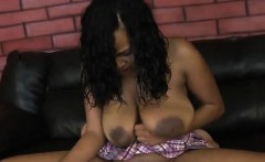 Curvy Black Hoe Gets Her Pussy Filled Up By White Cock