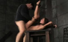 Skinny Teen Chained and Roughly Fucked!
