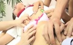 Yui Shirasagi gets pussy teased in harsh threesome