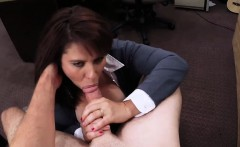 MILF fucked by pawn guy for cash to bail out her hubby
