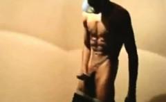 Black Guy Wanking In The Shower