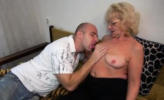 hot young guy fucking very nice granny with strap on