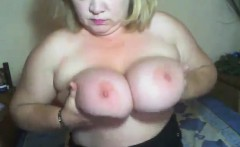 Mature Blonde Fatty Teasing