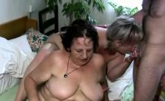 Threesome with a granny slut