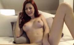 Great Tit Redhead MILF Pussy Play on Webcam