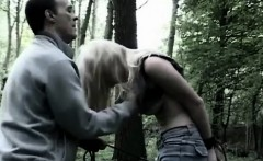 Dominator tantalizes girl in the woods
