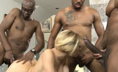Massive titted blonde whore enjoyed many big black dicks