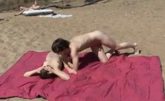 Swingers Party on a public Nude Beach