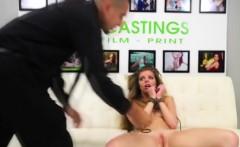 shy model at porno casting