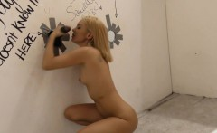 Gloryhole slut creampied