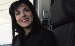 Hot brunette hitchhiker Bella Beretta gets banged