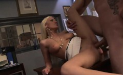 blonde babe gets slammed by her coworker