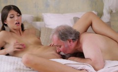 Steaming young seductress likes old weenie in mouth and twat