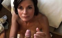 Nana obtaining my cum on her face that is pretty