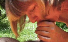 Mature Outdoor Cocksucker Does her Thing