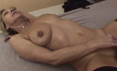 Sexy Blonde Granny In Laced Stockings Fucks Young Cock