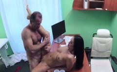 Tattooed gal fucking doctor in hospital office