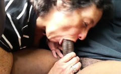 Cock - crazed granny giving head to her amore