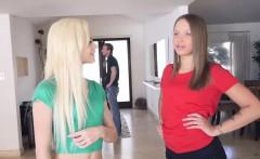 Elsa Dream gives Lisa Rowes dad a deep throat blowjob