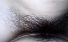 Before driving her guyis penis with limited clam hairy brun