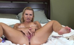 Stacked cougar Katja Kassin drills her holes and releases her juices