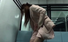 Asian slut public rubbing