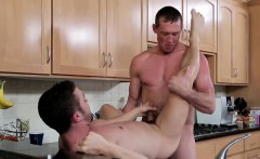 Pierce bends Colt over fucking his meaty ass from behind