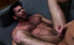 Ian climbs up on top of his boyfriend sucks Wolfs long dick