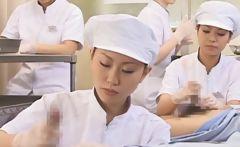 Japanese nurse working hairy penis