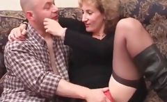 Blonde mature gets cunt teased