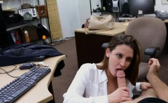 Big boobs amateur woman getting fucked by pawn keeper