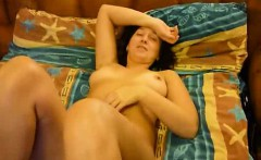 Brunette slut with a full bush is never tired of hard bangi