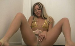 Curvy maid spreads legs and fingers her beaver