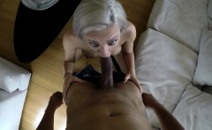 Little blonde blows and gets humped and caught on spy cam glasses