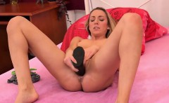 glamorous nympho is peeing and fingering bald fuckbox