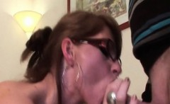 Arousing mature jizz shot on her sexy boobs